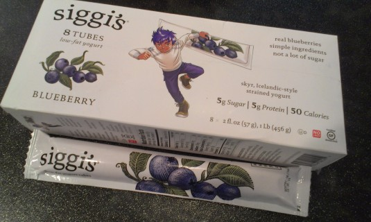 My local Target carries the Siggi's Yogurt Tubes in Blueberry & Raspberry